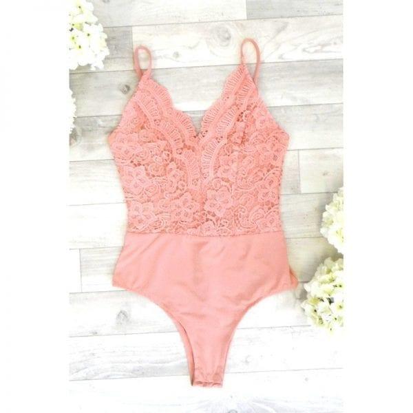 cf806658f786 Venus Lace Bodysuit - Pink