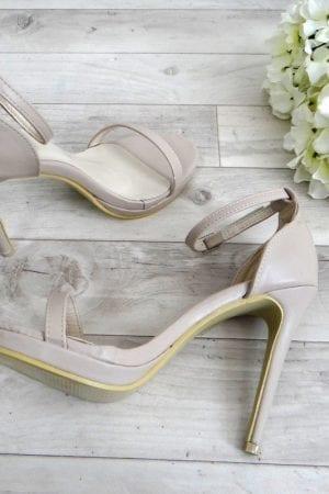 Casey Platform Heels - Nude