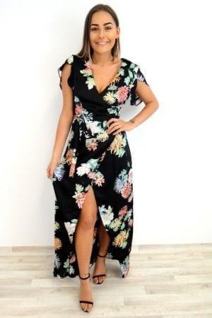 Winnie Floral Maxi - Black