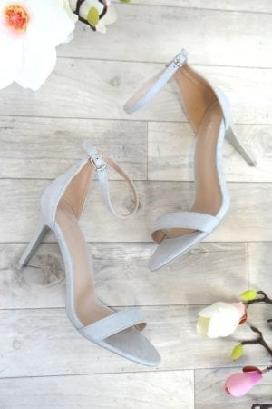 Kim Barely There Heels - Grey