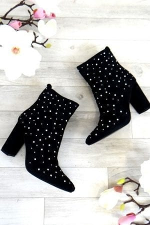 Marisa Studded Boot - Black