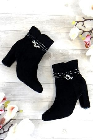 Petra Diamante Boot - Black