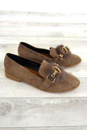 Fern Fur Loafer - Brown