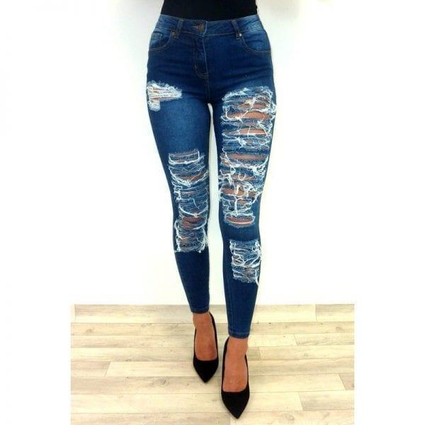 Pepper Super Rip Jeans - Blue