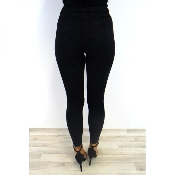 Amber Button Fly Jeans - Black