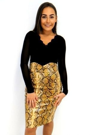 Kourtney Midi Skirt - Snake
