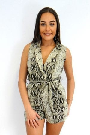 Hallie Playsuit - Snake