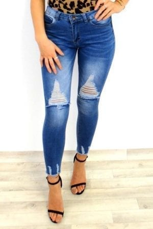 Ashley Ripped Jeans - Blue