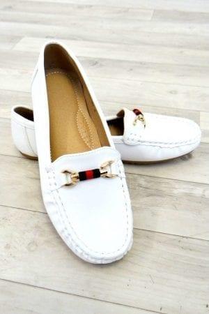 Simone Stripe Loafer - White