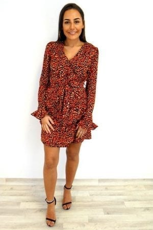Chrissy Tiered Dress - Red