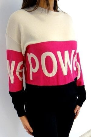 Power Stripe Jumper - Pink