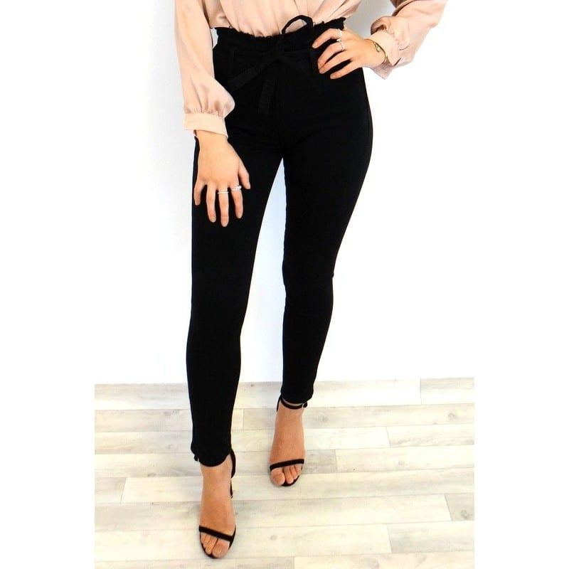 7396f561fa Cara Paperbag Jeans - Black - Damson Boutique