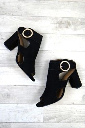 Zena Buckle Heels - Black