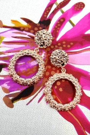 Rio Round Earring - Rose