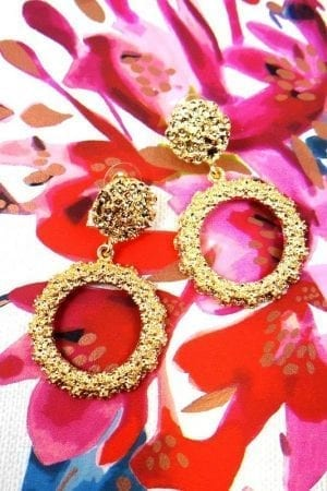 Rio Round Earring - Gold