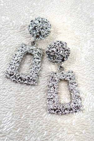 Lois Rectangle Earring - Silver