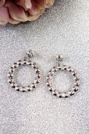Mia Pearl Earring - Silver