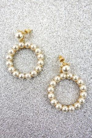 Mia Pearl Earring - Gold