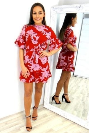 RiRi Floral Dress - Red