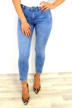 Natasha Zip Detail Jeans - Blue