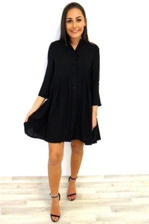 Talia Smock Dress - Black