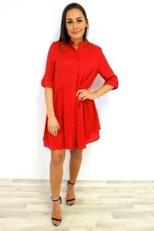 Talia Smock Dress - Red