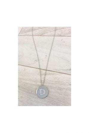 Maci Initial Necklace - Silver