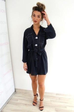 Anisha Shirt Dress - Navy