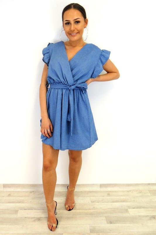 a88743c8b8 Abigail Frill Dress - Denim - Damson Boutique